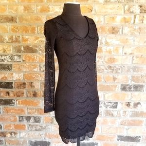 Forever 21 Black Lace Dress Juniors sz Small